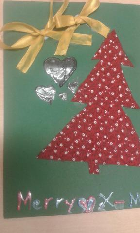 Textile work, Grade 6 Christmas cards