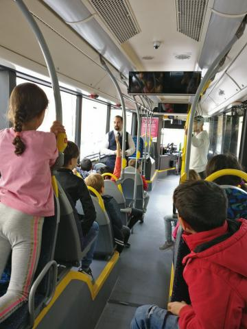 Grade 2 students learned how to go by bus in a secure way